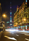 Shanghai nightly traffic Royalty Free Stock Images