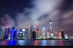 Shanghai north bund at night Stock Photos
