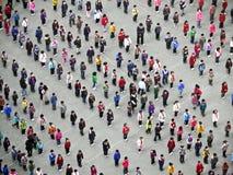 People doing Taiji Quan in the morning Stock Photo