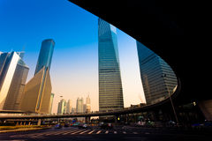 Shanghai office building Royalty Free Stock Image