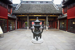 Shanghai old buddhist temple Royalty Free Stock Photography