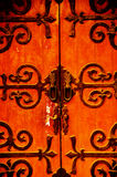 Shanghai old door. Shanghai old german style house's  door at dusk Royalty Free Stock Photos