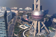 Shanghai Oriental Pearl Tower royalty free stock photo