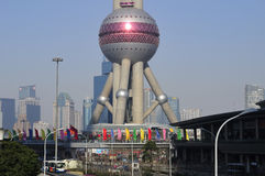 Shanghai Oriental Pearl Tower royalty free stock photography