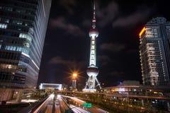 Shanghai Oriental Pearl TV Tower. China Shanghai landmark Shanghai Oriental Pearl TV Tower Royalty Free Stock Photos