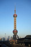 Shanghai oriental pearl tv tower Royalty Free Stock Image