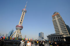 Shanghai oriental pearl tv tower Royalty Free Stock Photo