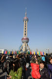 Shanghai oriental pearl tv tower Stock Photos