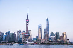 Shanghai Oriental Pearl TV Tower Huangpu River scenery Stock Photos