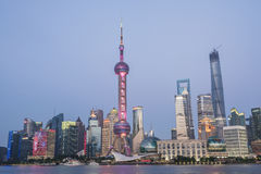 Shanghai Oriental Pearl TV Tower Huangpu River scenery Royalty Free Stock Images