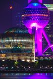 Shanghai Oriental Pearl TV tower at night Royalty Free Stock Images