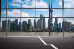 Shanghai outside the window Royalty Free Stock Photos