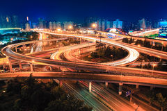 Shanghai overpass at night Royalty Free Stock Photography