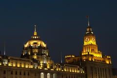 Shanghai på natten Royaltyfria Foton