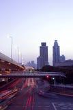 Shanghai på natten Royaltyfri Bild