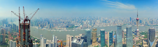 Shanghai panorama Royalty Free Stock Image