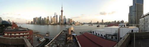 Shanghai panoramic photo skyline Stock Photo