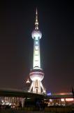 Shanghai Pearl Tower at night Royalty Free Stock Photos