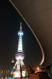 Shanghai Pearl Tower at night Royalty Free Stock Photos
