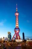 Shanghai Pearl Tower at Night Stock Photos