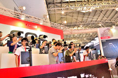 Shanghai Photographic Equipment Exhibition Stock Image