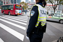 Shanghai police Stock Image