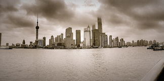 Shanghai-Promenade Stockfoto