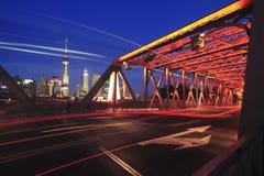Shanghai-Promenade Gartenbrücke Lizenzfreie Stockbilder