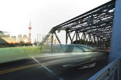 Shanghai-Promenade Gartenbrücke Stockbilder