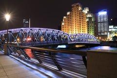 Shanghai-Promenaden-Garten-Brücke Lizenzfreies Stockfoto