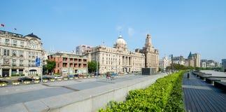 Shanghai-Promenaden-historische Gebäude Lizenzfreie Stockfotografie