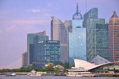 Shanghai Pu-dong city view, beside Huang-pu river Stock Photo