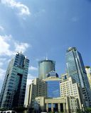 Shanghai Pudong. High-rises in Shanghai's new Pudong banking and business district Stock Photography
