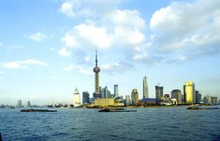 Shanghai Pudong. The outline of the Pudong financial district in Shanghai, the economic capital of China Stock Image