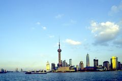 Shanghai Pudong. The outline of the Pudong financial district in Shanghai, the economic capital of China Stock Photography
