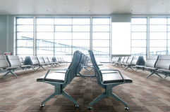 Shanghai Pudong Airport departure lounge chairs Stock Photography