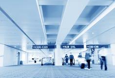 Shanghai Pudong Airport passengers Stock Image