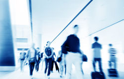 Shanghai Pudong Airport passengers Royalty Free Stock Photo