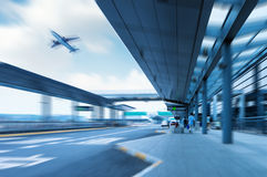 Shanghai Pudong Airport road Stock Image