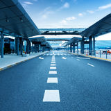 Shanghai Pudong Airport road Stock Photography