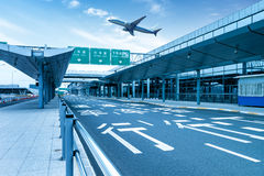 Shanghai Pudong Airport road Royalty Free Stock Photography