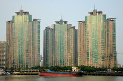 Shanghai Pudong Apartment buildings Royalty Free Stock Photography