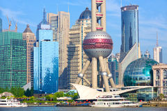 Shanghai Pudong architecture. With urban skyscrapers, China Royalty Free Stock Photo