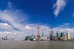 Shanghai Pudong. Shanghai beautiful scenery in Pudong New Area Stock Image