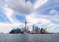 Shanghai Pudong. Shanghai beautiful scenery in Pudong New Area Royalty Free Stock Image