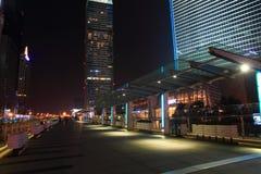 Shanghai Pudong bij nacht Stock Foto's