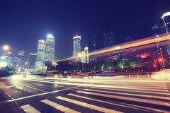 Shanghai Pudong buildings, night Royalty Free Stock Photo