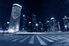 Shanghai Pudong City Night Stock Photos
