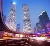 Shanghai Pudong city night Stock Photos