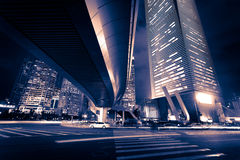 Shanghai Pudong City Night Royalty Free Stock Images